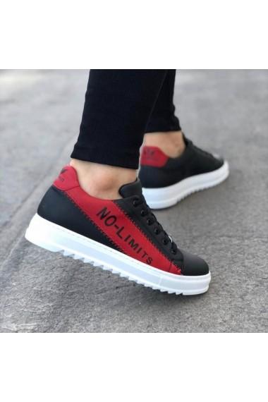 BA0027 No Limits Siyah Kırmızı Bağcıklı Casual Erkek Spor Ayakkabı