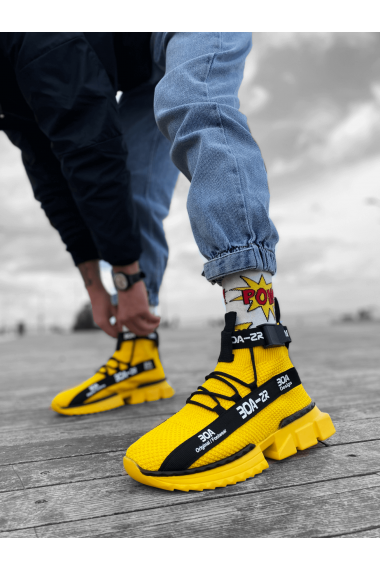 Erkek Zr-x700 Tarz Sarı Renk Spor Ayakkabı