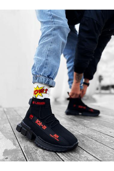 Erkek Zr-x700 Tarz Siyah Kırmızı Renk Spor Ayakkabı