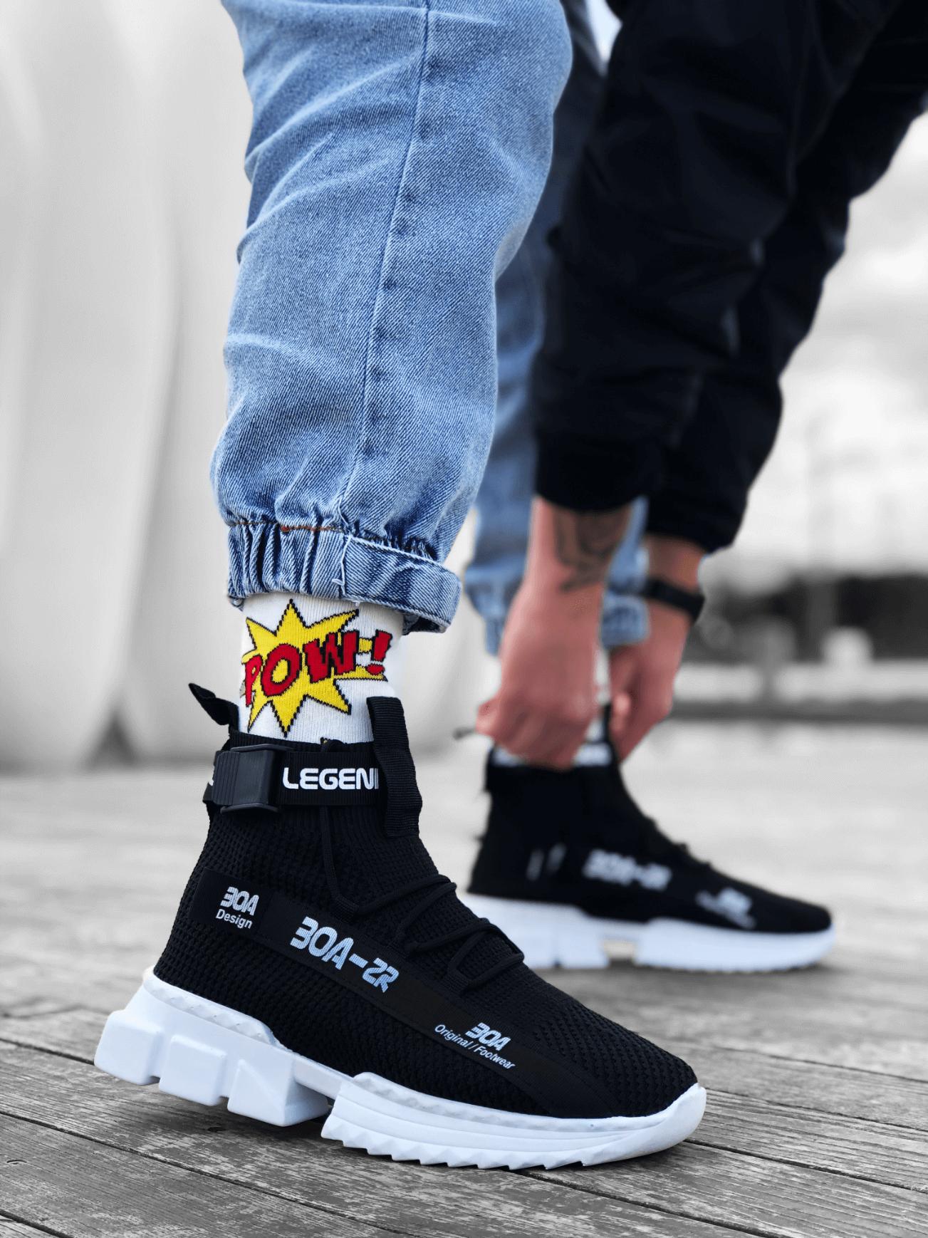 Erkek Zr-x700 Tarz Siyah Renk Spor Ayakkabı